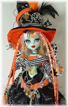 Witch doll dressed in costume for Halloween.