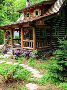 109 Small Log Cabin Homes Ideas Log Cabin Living, Small Log Cabin, Log Cabin Homes, Log Cabins, Cozy Cabin, Small Cottages, Cabins And Cottages, Cabin In The Woods, Cabin Kits