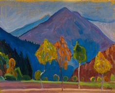 Gabriele Münter, Mountains in the Twilight, 1908