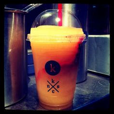 So perfect on a day like today! Arnold Palmer with raspberry and mint @kelvinslush