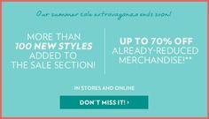 Reitmans Summer Sale - Save An Extra 70% Off