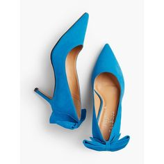 a2c2d8208ae Discover your modern classic look with Erica Back-Bow Suede Pump from  Talbots.