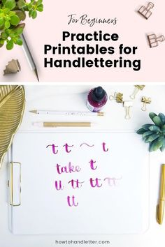 by howtohandletter - - Lettering For Beginners, Calligraphy For Beginners, Printable Letters, Printable Planner, Free Printables, How To Write Calligraphy, Calligraphy Alphabet, Modern Calligraphy, Brush Lettering Worksheet