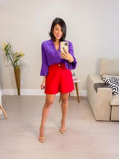 Camila, What To Wear, Ideias Fashion, Bermuda Shorts, Short Dresses, Outfits, Natural, Women, Matching Colors