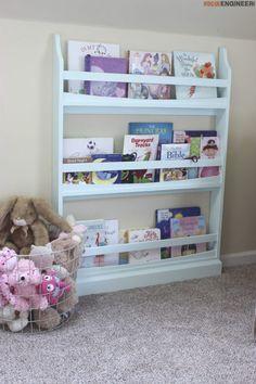 DIY Childrens Bookshelf Plans - Rogue Engineer1