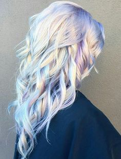 Whoa thats kinda neat. Never seen this before. Opal Hair is the Perfect Way to Ease Yourself into Bold Hair Color Whoa thats kinda neat. Never seen this before. Opal Hair is the Perfect Way to Ease Yourself into Bold Hair Color Unicorn Hair Color, Opal Hair, Bold Hair Color, Hair Colours, Metallic Hair Color, Sliver Hair Color, Crazy Hair Colour, Pastel Colours, Coloured Hair