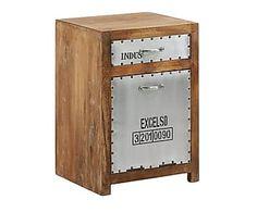 Mesa auxiliar de madera DM y metal Merabi