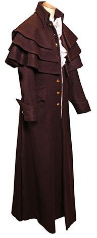 Garrick Coat - Garrick coats of the Empire Period typically have three to five cape collars and were worn by both men and women. They are sometimes called a coachman's coat.