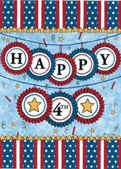 Happy 4th Garden Flag - Fly Me Flag