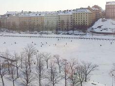 ice fishers in Helsinki