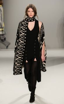 Temperley London Winter '15: Jani Cape, Megan Dress, Suede Ankle Boot