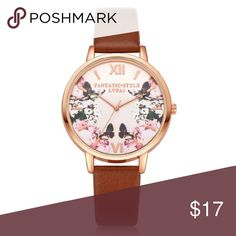 Floral Watch - Brown > new > bundle & save > use offer button Accessories Watches