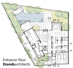 Image 14 of 17 from gallery of DG House / Domb Architects. entrance floor plan