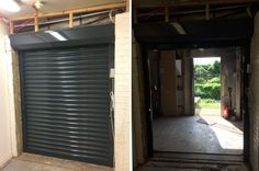 RSG5600 commercial roller shutter securing a retail warehouse in Rainham, Essex.