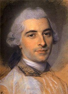 Preparation for Portrait of Unknown Man - by artist Maurice Quentin de La Tour (1704 – 17 February 1788)