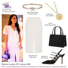 Meghan Visits Immersive Storytelling Studio in London Wearing Roland Mouret and TopShop Meghan Markle Outfits, Meghan Markle Style, Princess Meghan, Prince Harry And Meghan, Royal Dresses, Roland Mouret, Royal Fashion, Duke And Duchess, Chic Outfits