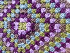 It has started…Bluebird's Granny Crochet Along started on 25 October.