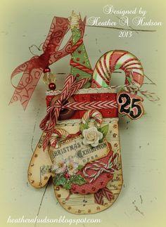 Vintage Christmas Mitten Ornament/ Card Front - Scrapbook.com