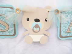 Teddy bear baby shower teddy bear banner by NancysBannerBoutique,