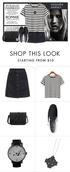 """""""ROMWE Striped Black T-shirt! CONTEST WITH PRIZE"""" by elena-indolfi ❤ liked on Polyvore"""