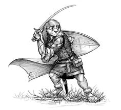 """Commission: The Chronicles of Ember - Lugan by Temiree.deviantart.com on @DeviantArt Commissioned illustration for Alan Wortman, for his tabletop RPG project, The Chronicles of Ember! This is of the Lugan! :meow: Alan writes, """"They're small, they're flighty, and they're absolutely literal. Everything they hear is entirely unfiltered, and figures of speech are lost on them. #anthro #anthropomorphic #cape #chainmail #crosshatch #crosshatched #crosshatching #digital #hare #illustration #lugan"""