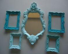 Espelhos Tiffany,Turquesa e verde água