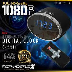 最新!超小型カメラ最前線: 置時計型超小型ビデオカメラ スパイカメラ スパイダーズX (C-550) 1080P 60FPS 赤...