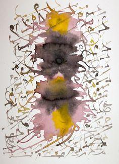 Islamic Calligraphy Abstract