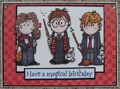 Rachel's Crafty Adventures: Harry Potter themed card