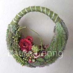Autumnal bridal handbag featuring Setaria grasses ~ Laura Leong