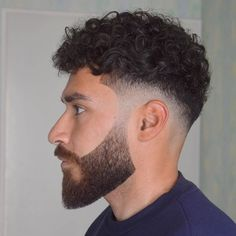 Timeless 50 Haircuts For Men Trends) Men Haircut Curly Hair, Male Haircuts Curly, Curly Hair Cuts, Fade Haircut, Cool Haircuts, Haircuts For Men, Curly Hair Styles, Curly Hair Taper, Modern Haircuts
