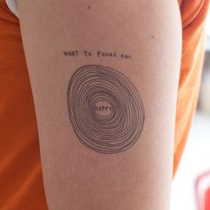 Marc Johns What To Focus On temporary tattoo