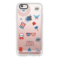 iPhone 6 Plus/6/5/5s/5c Case - Happy fourth of July ($40) ❤ liked on Polyvore featuring accessories, tech accessories, iphone case, iphone cover case, apple iphone cases, iphone cases and iphone hard case