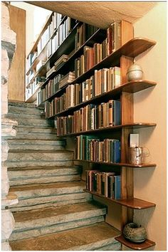 stairwell bookcase to the basement, would have to be up stairs in FL!