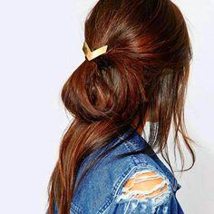 Comiya Stylish Fashion Accessories Zinc Alloy V Shape Hairgrips Tiara Bijoux De Tete Hair Jewelry Statement Summer Hairgrip Messy Ponytail, Ponytail Hairstyles, Cool Hairstyles, Head Jewelry, Gold Jewellery, Jewelry Sets, Jewelry Necklaces, Fashion Accessories, Hair Accessories