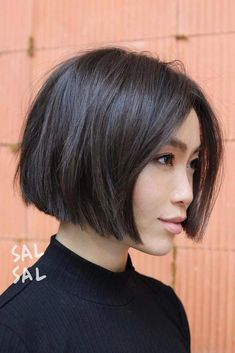 60 Layered Bob Styles: Modern Haircuts with Layers for Any Occasion - Hair styles - Asian Brown Jaw-Length Bob - Modern Haircuts, Short Bob Haircuts, Short Thick Hairstyles, Short Blunt Haircut, Blunt Bob Cuts, Short Blunt Bob, Short Hair Cuts, Short Hair Styles, Short Bob Cuts