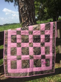 Real Tree Camo & Light Pink Hand Made Baby by AddalittleFavor