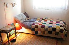 patchwork crochet bedspread