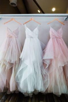 Shinning Stardusted Tulle Ball Gown Bridal Dress with Cascade Skirt