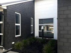Premier Country Brick Straight Edge in Black Magic - House bricks NZ premium house brick cladding, brick house exterior,house brick ideas,house brick colors,house bricks design House Cladding, Facade House, House Exteriors, Exterior House Colors, Exterior Design, Concrete Cladding, Bricks For Sale, Magic House, New Zealand Houses
