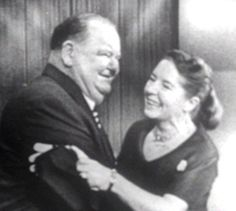 Oliver Hardy: a very late photo with his wife, my aunt Lucille Hardy (nee Jones)