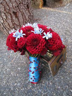 #10 Wedding Film Inspiration  #themodernjewishwedding  http://www.bouquetweddingflower.com/wp-content/uploads/2011/07/red-dahlia-bouquet.jpg