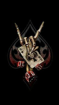 WALLPAPERS - Gothic, skulls, death, fantasy, erotic and animals: death Skull Tattoos, Body Art Tattoos, Sleeve Tattoos, Tatoos, Dark Fantasy Art, Dark Art, Grim Reaper Art, Reaper Tattoo, Poker Tattoo