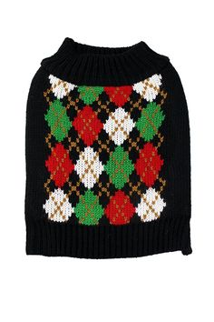 Christmas Argyle Dog Sweater by Midlee (XX-Large) * Remarkable product available now.(This is an affiliate link and I receive a commission for the sales) : Dog sweaters Dog Sweater Pattern, Small Dog Clothes, Dog Food Storage, Dog Shower, Fluffy Dogs, Dog Shedding, Dog Diapers, Dog Memorial, Dog Hoodie