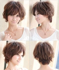 suitable for a round face and short hair enough to any of your five a round face and short hair style Selected