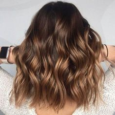 Dark Brown with Caramel Ombré Balayage #Beauty #Haircolor