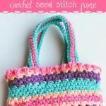 Crochet Seed Stitch Purse - Free Crochet Pattern