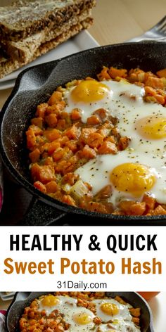 healthy potato quick sweet hash and Quick and Healthy Sweet Potato Hash You can find Sweet potato recipes and more on our website Sweet Potato Recipes Healthy, Healthy Breakfast Recipes, Healthy Snacks, Vegetarian Recipes, Cooking Recipes, Healthy Recipes, Recipes For Sweet Potatoes, Stuffed Sweet Potatoes, Vegetarian Hash