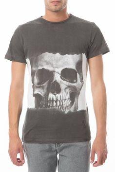 tee shirt mc dip dye skull religion noir blanc - pret a porter tee shirt mc homme