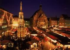 Nurnburg Christkindlmarkt at night, which one will probably see.  It takes quite a while to go through the large market, here - so much to see!